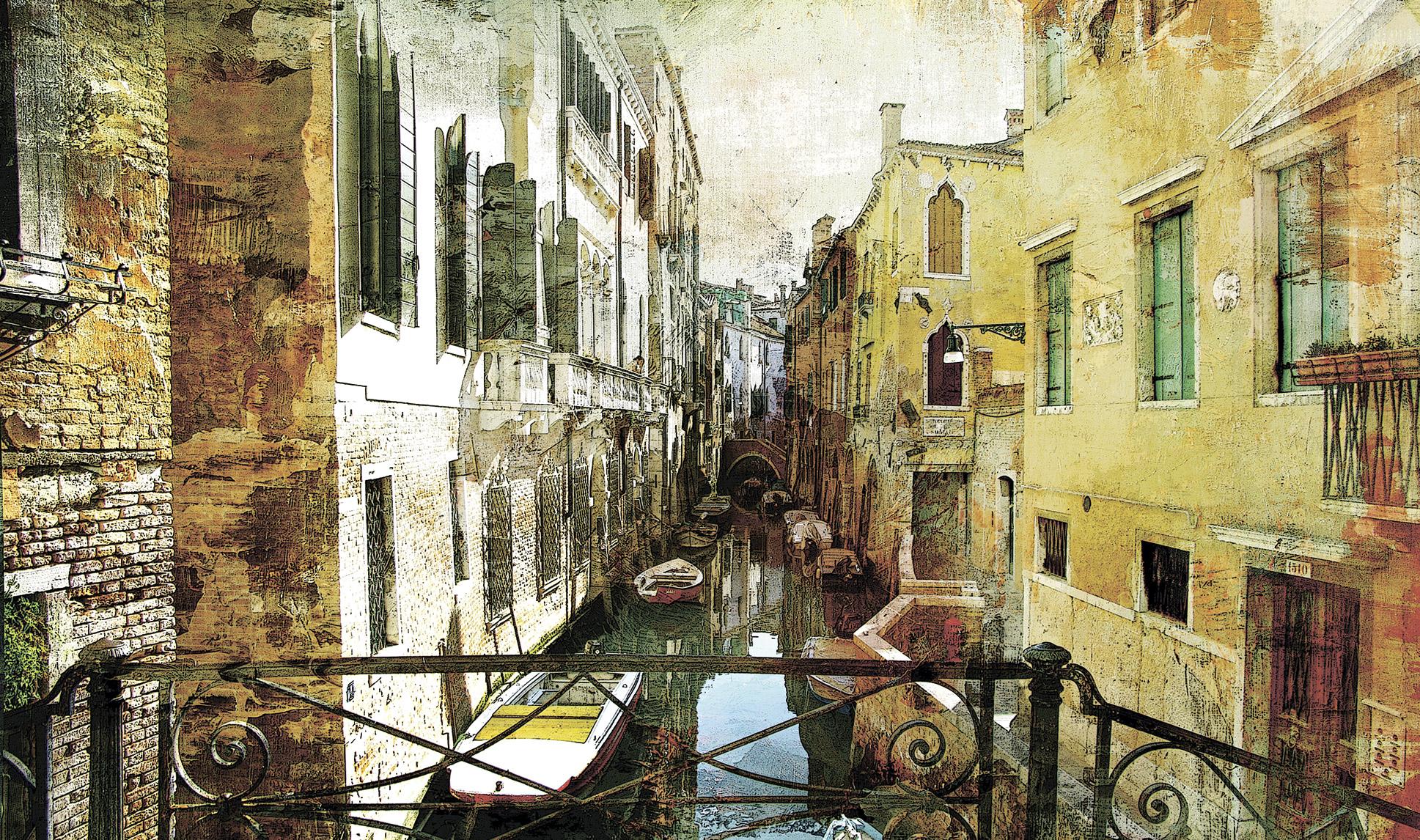 Фото обои на стену со старинными пейзажами 3